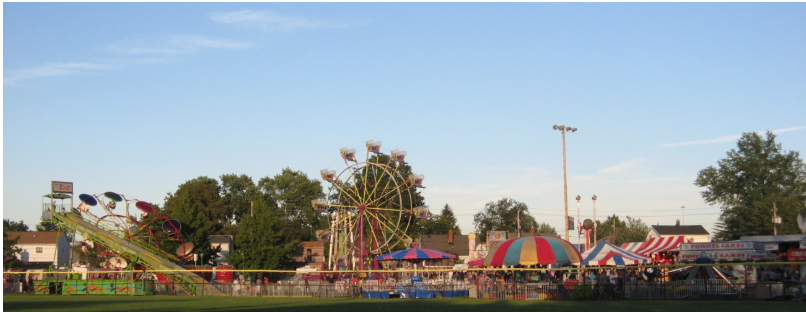 Photo rides and booths of Unity Days in the park
