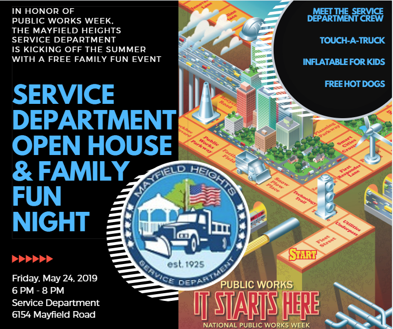 Event Flyer for Service Department Open House & Family Fun Night
