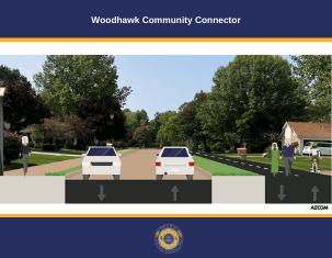 Woodhawk Community Connector cover with link to plan