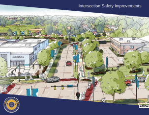 Intersection Safety Improvements cover with link to plan