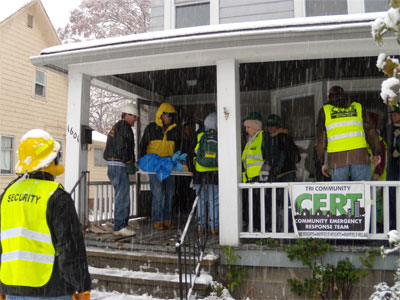 Men Outside of CERT House