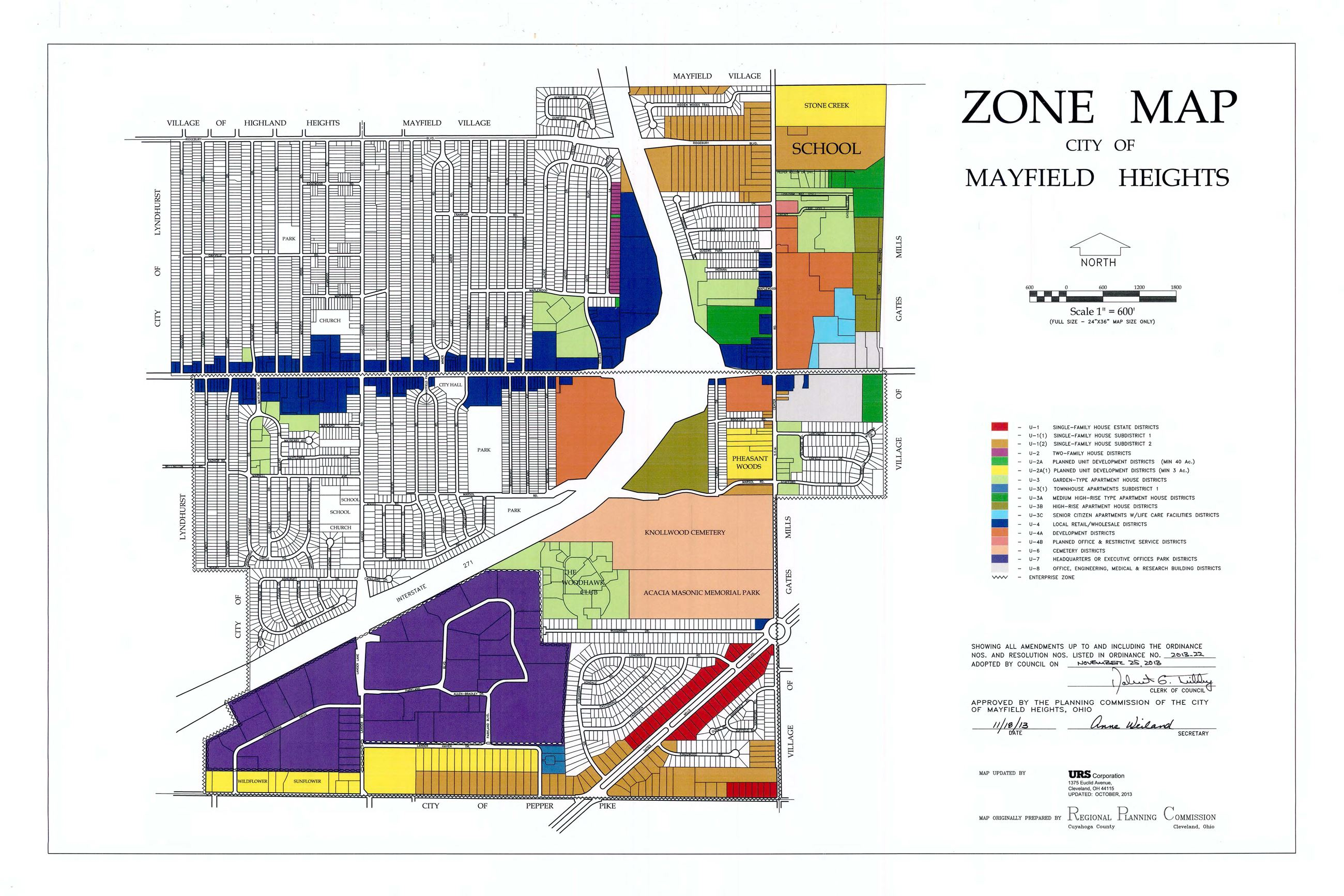 Mayfield Ohio Map.Zone Map Mayfield Heights Oh Official Website