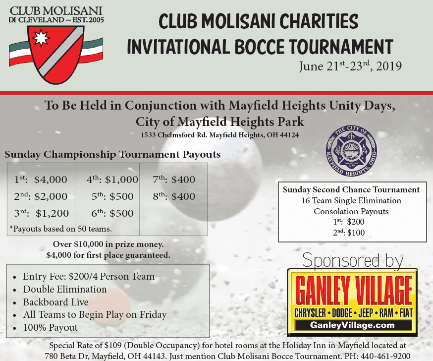 2019 Molisani Bocce Tournament