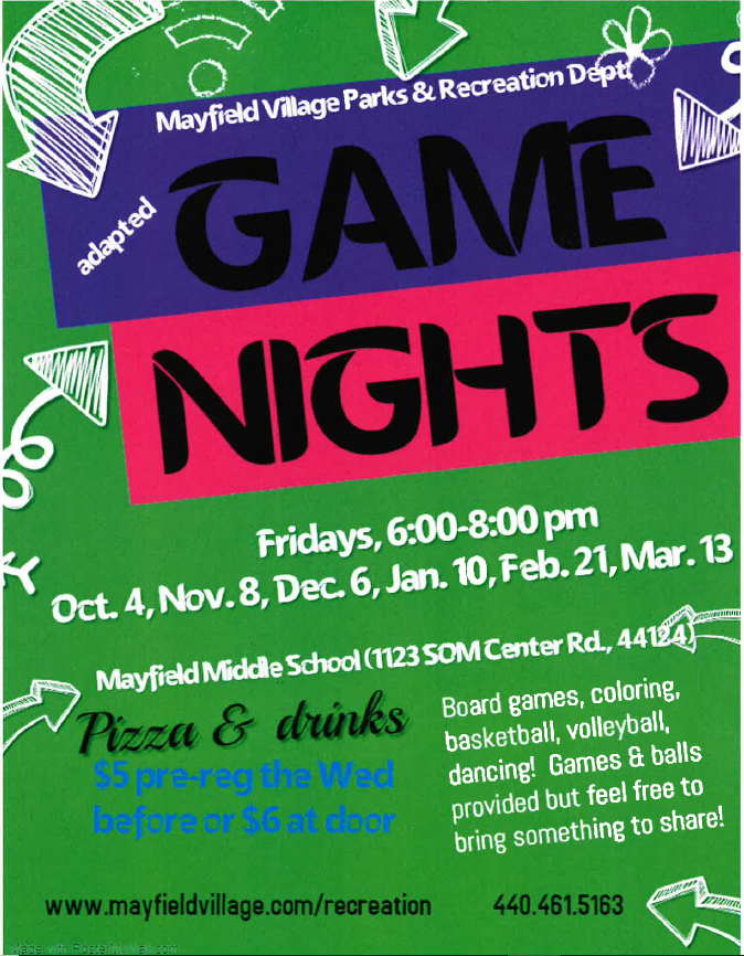 2019 Fall Adaptive Game Night